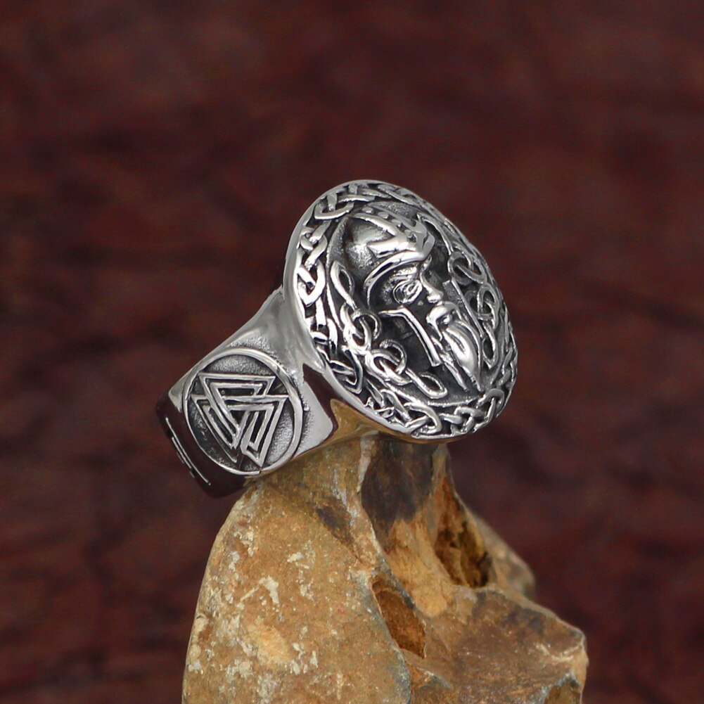 Berserker Ring With Valknut Symbol