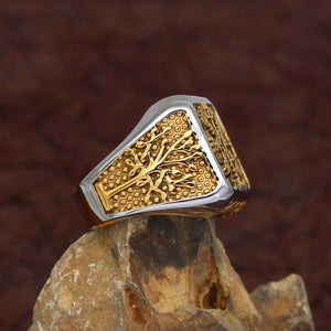 Vegvisir & Yggdrasil Tree of Life Ring