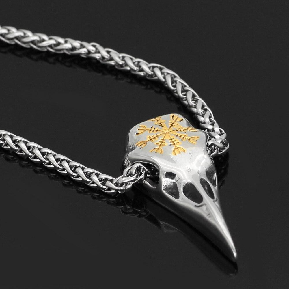 Raven Skull Necklace - Odins-Glory