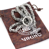 Rune King Chain With Mjolnir Pendant - Odins-Glory
