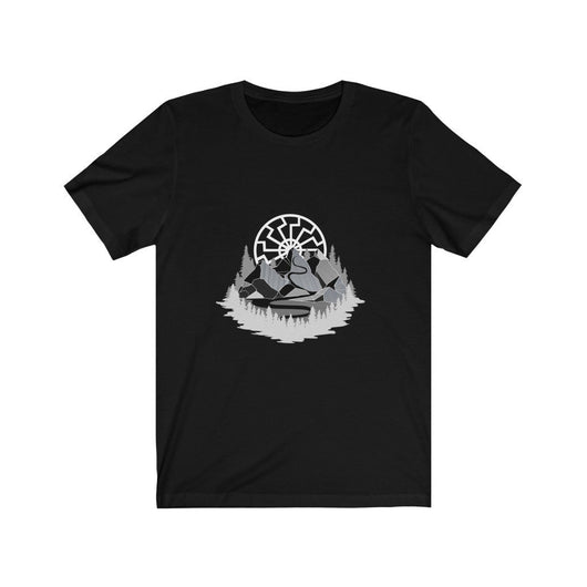 Sun Wheel Mountains T-Shirt - Odins-Glory