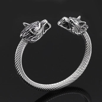 Viking Armring With Wolf heads - Odins-Glory