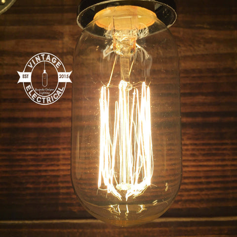 "Edison screw Filament Lamps ""straight valve"" dimmable lamp tube E27 bulb 220v-240v"