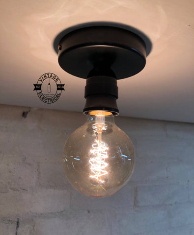 Industrial Bulkhead Solid Wall Light Or Ceiling Flush Mount Light Sconce
