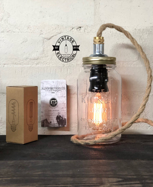 The Kilner 175 Limited Edition table lamp light fitting purple vintage cable uk 3 pin plug office rustic retro shabby chic bedroom lounge