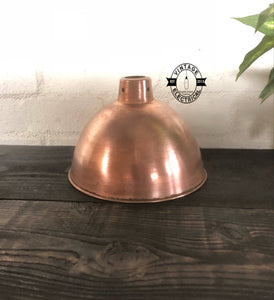 Morely ~ Solid Steel Copper Coated Shade Industrial Factory Shade Light ~ Dining room ~ Kitchen Table ~ Vintage Antique Style ~