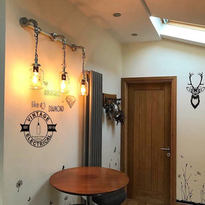 The Knapton Kilner 3 x jar wall light fitting retro shabby chic vintage filament lamps steampunk urban bar cafe mason restaurant table e27