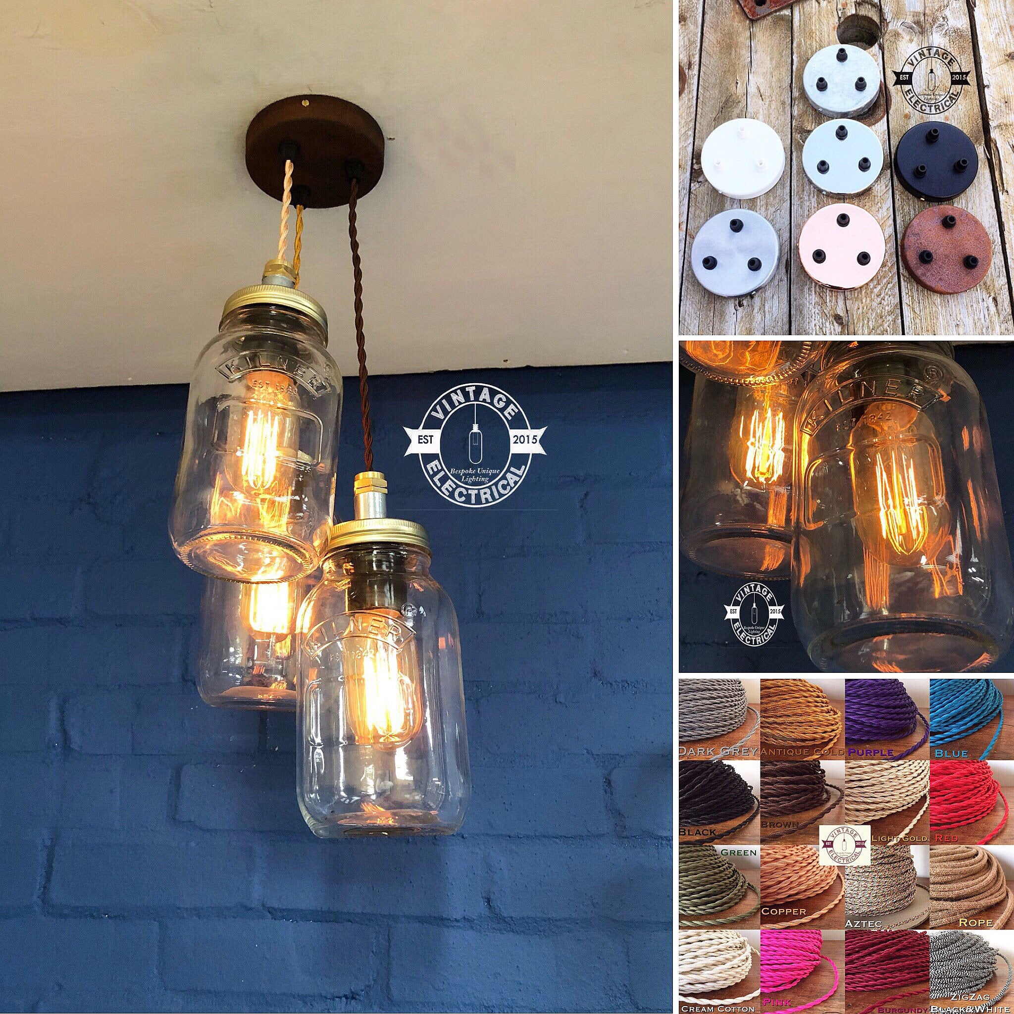 Home Lighting Glass Mason Jar Pendant Quirky Retro Ceiling Light Fitting Bedroom Kitchen Kisetsu System Co Jp