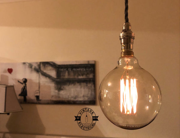 Heacham ~ 3 x Industrial Pendant Set | Ceiling Dining Room | Kitchen Table Hanging Light | Vintage 3 x XL Edison Filament Bulbs