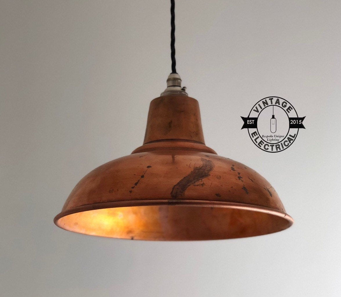 Salthouse ~ Solid Steel Copper Coated Industrial factory light ceiling kitchen table vintage breakfast bar lamps pendant ~ Shade Only