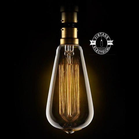 "40W Edison screw Filament Lamps ""straight valve"" dimmable lamp tube B22 bulb 220v-240v"