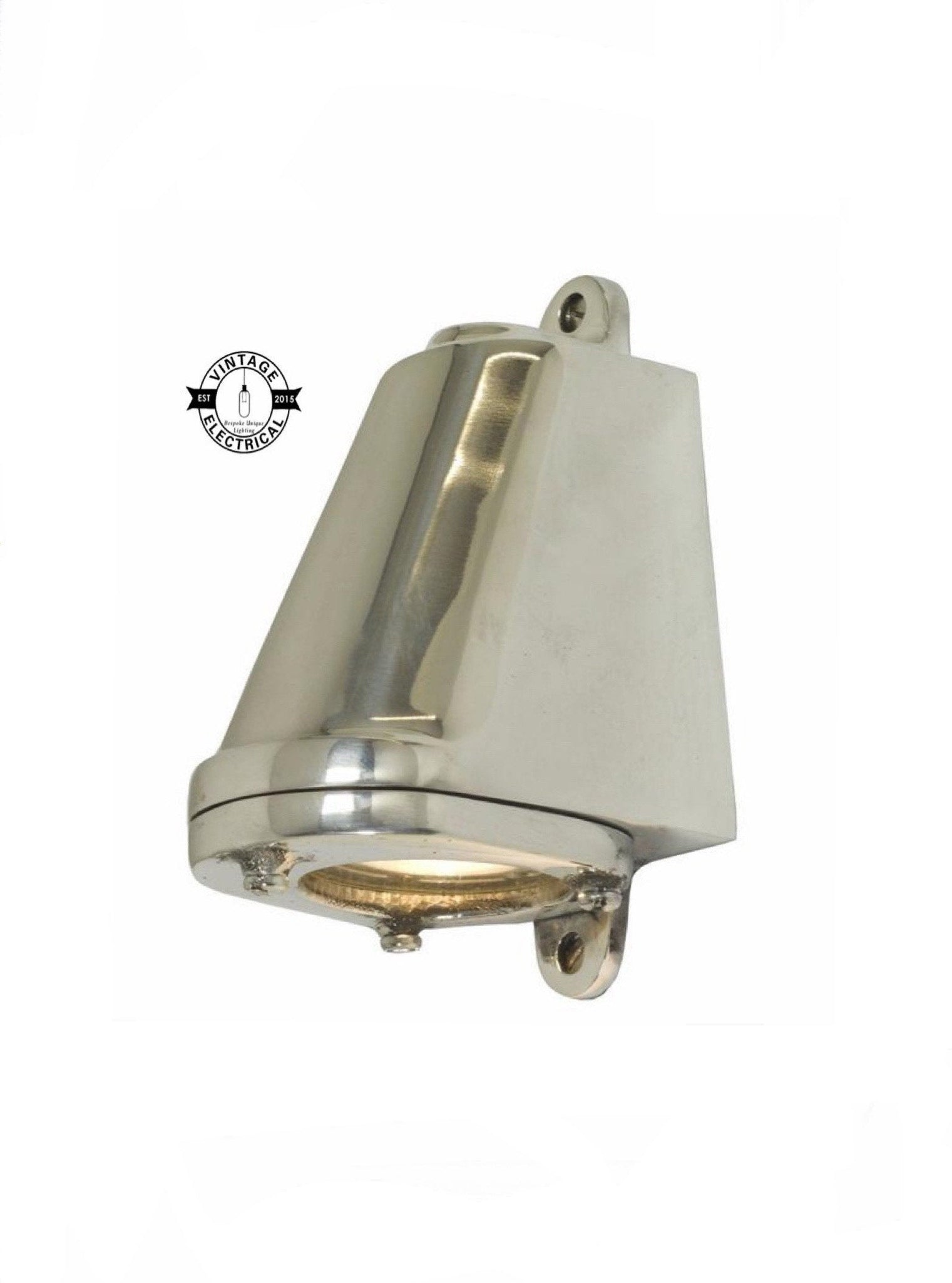 Holt ~ Polished Aluminium | Mast Down Light Industrial Ship Sconce Marine Bulkhead Hand Crafted Wall Nautical Passage Way Philips 3.8W LED