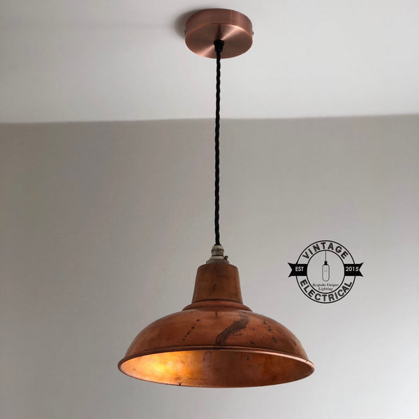 Salthouse ~ Solid Steel Industrial Shade Pendant Set Light | Ceiling Dining Room | Kitchen Table | Vintage 1 x Edison Filament Bulb