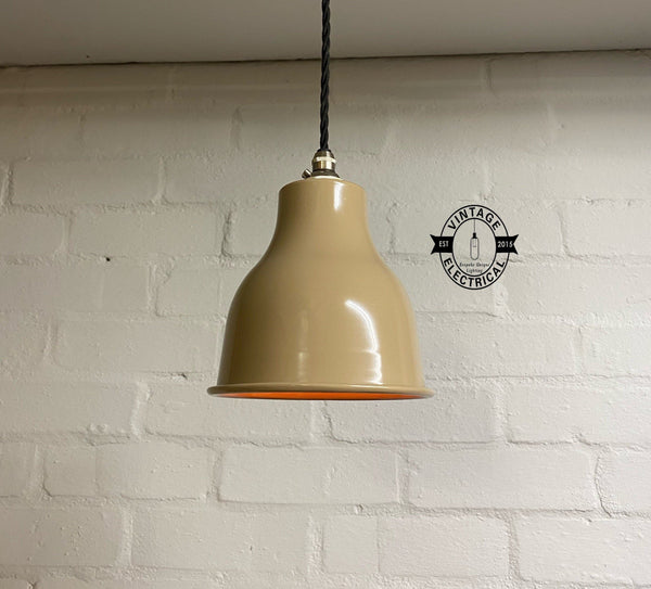 Merton - Solid Small Pendant Drop Light Industrial factory shade ceiling dining room kitchen table edison bulb