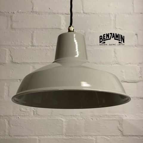 Filby ~ Original Grey Solid Shade Pendant Set Light | Ceiling Dining Room | Kitchen Table | Industrial Factory Vintage Edison Filament Bulb