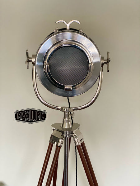 Maxlume ~ Hollywood Designer Tripod Search Light Luxury Theatre Spot Light Living Room Vintage