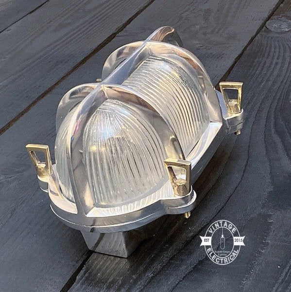 Walsingham  ~  Caged Bulkhead Industrial Wall Light | Ceiling Bathroom | Outdoor Garden | Vintage