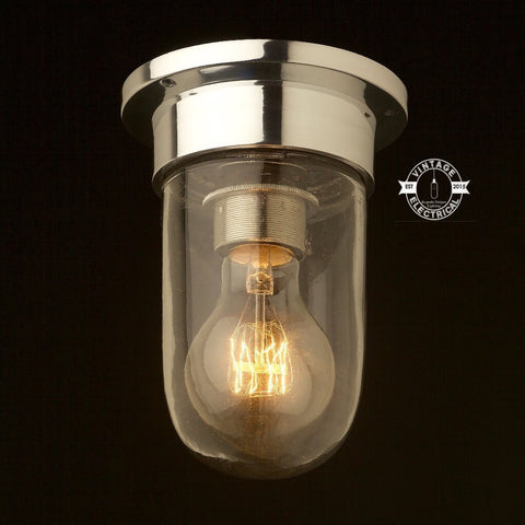 Bacton ~ Solid Industrial Ceiling Light ~ Sconce  ~ Ship Marine Bulkhead ~ Flush mount