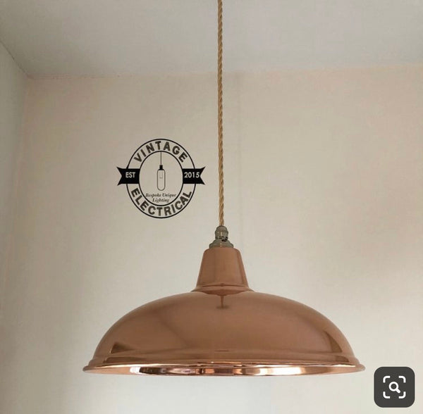 Sedgeford ~ 2 x Solid Copper Industrial Factory Shade Light