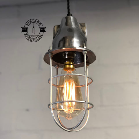 Coxford ~ Cage Industrial Factory Shade Light