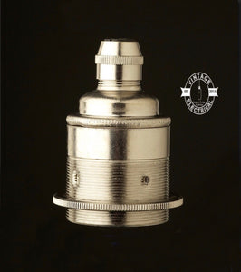 E27 Nickel Pendant Lampholder e27 Fitting With Cable Grip