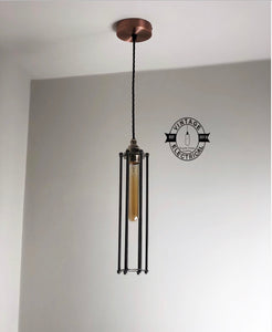 ~ Cage Industrial Factory Shade Light