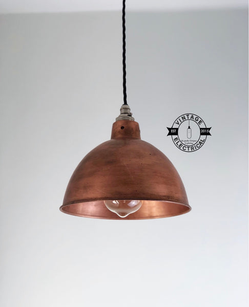 Morely ~ Antique Style Copper Industrial Factory Shade Only