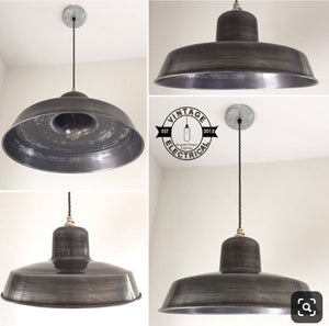 Wolferton ~ Solid Steel Industrial Factory Shade Light