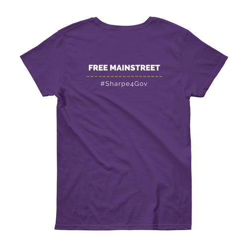 Women's Free Mainstreet T-Shirt (Dark) - Larry Sharpe