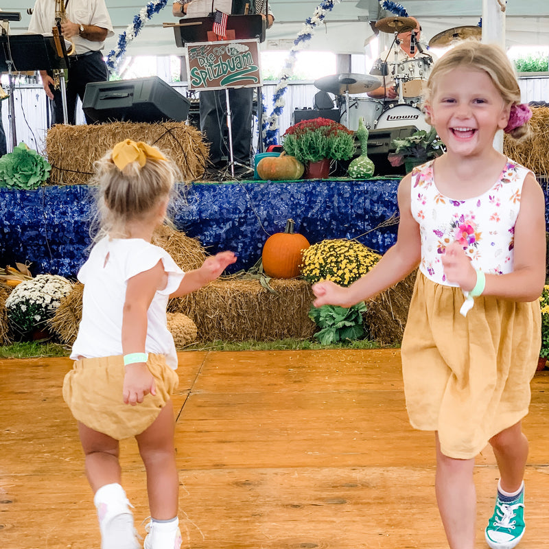 MUSTARD LINEN REVERSIBLE BLOOMERS - Pick A Reverse