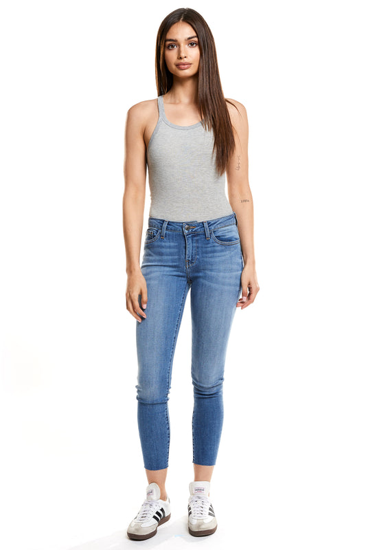 Hailey Mid Rise Skinny - Blossom