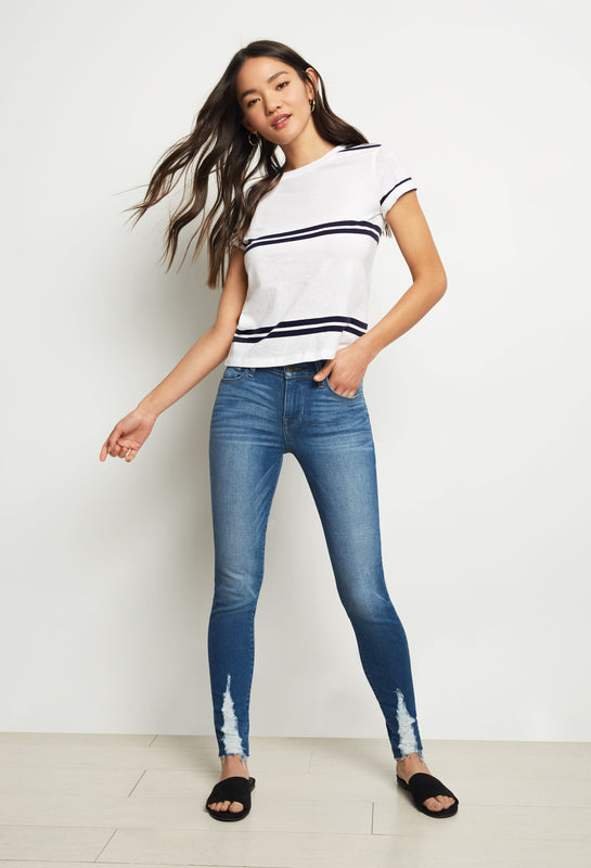 Lily Mid Rise Skinny - Amuse