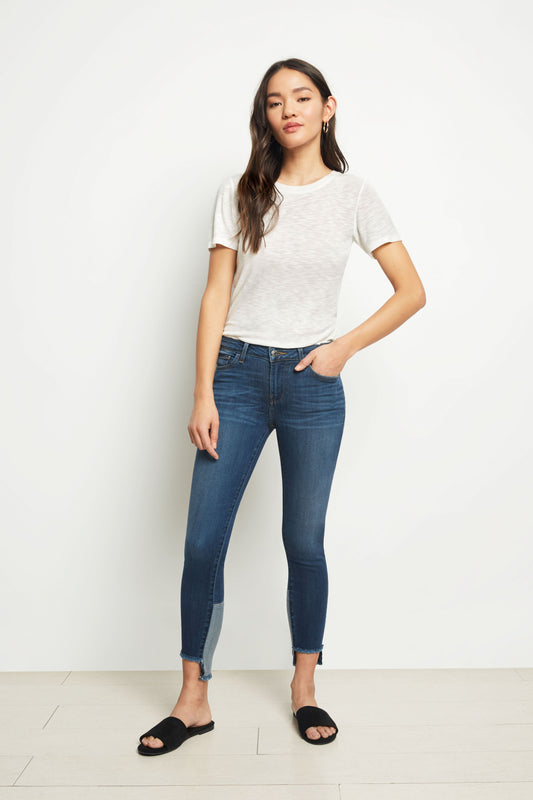 Hailey Mid Rise Skinny - Cosmo