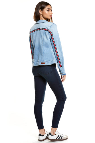 Denim Jacket - Emma Heaven Striped