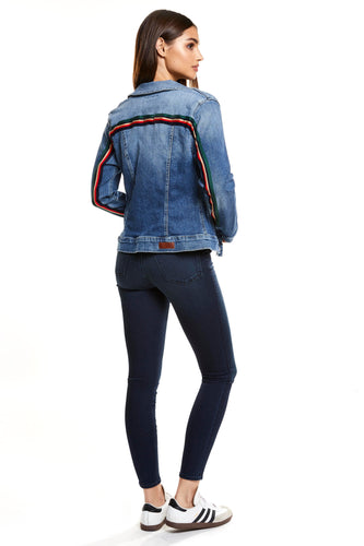 Denim Jacket - Emma Joy Striped