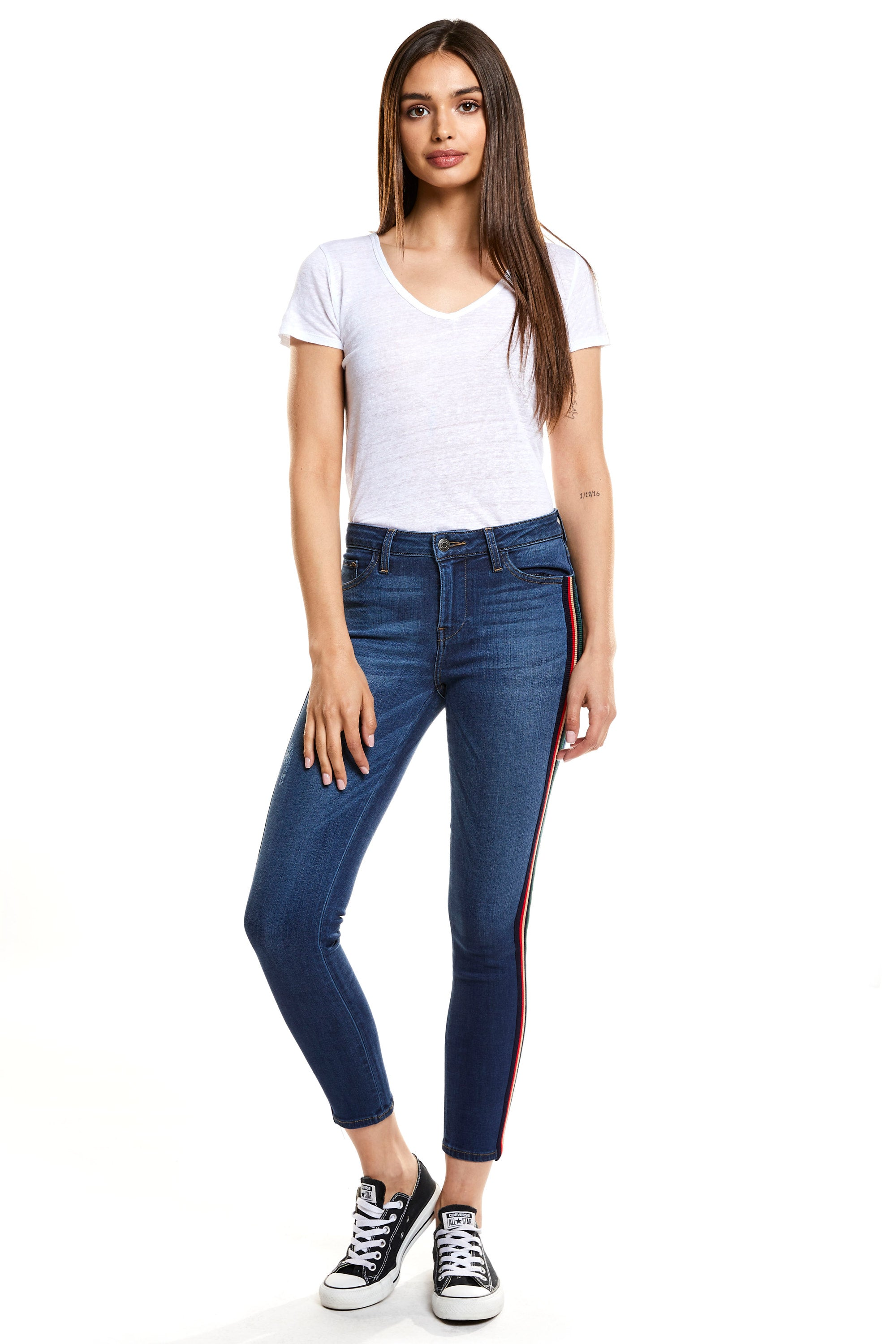 Hailey Mid Rise Cropped Skinny - Drifter