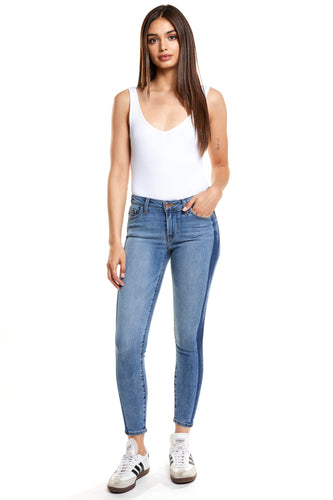 Hailey Mid Rise Cropped Skinny - Idol