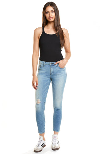 Hailey Mid Rise Cropped Skinny - Splash