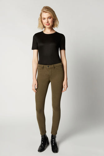 Lily Mid Rise Skinny - Olive Grass