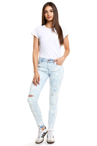 Lily Mid Rise Skinny- Cloud Nine