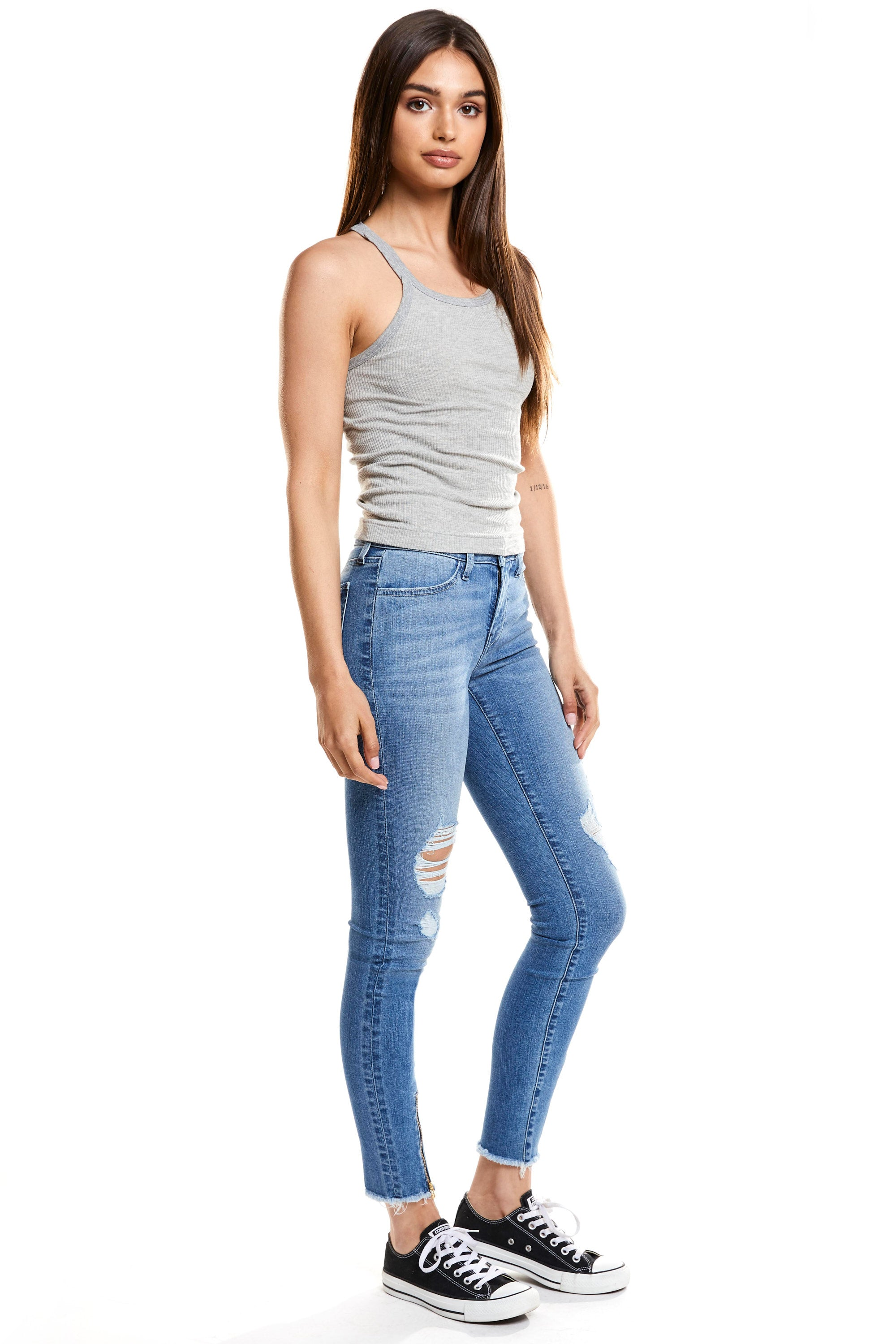 Lily Mid Rise Skinny - Hideout