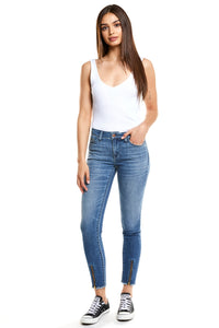 Lily Mid Rise Skinny - Bloom