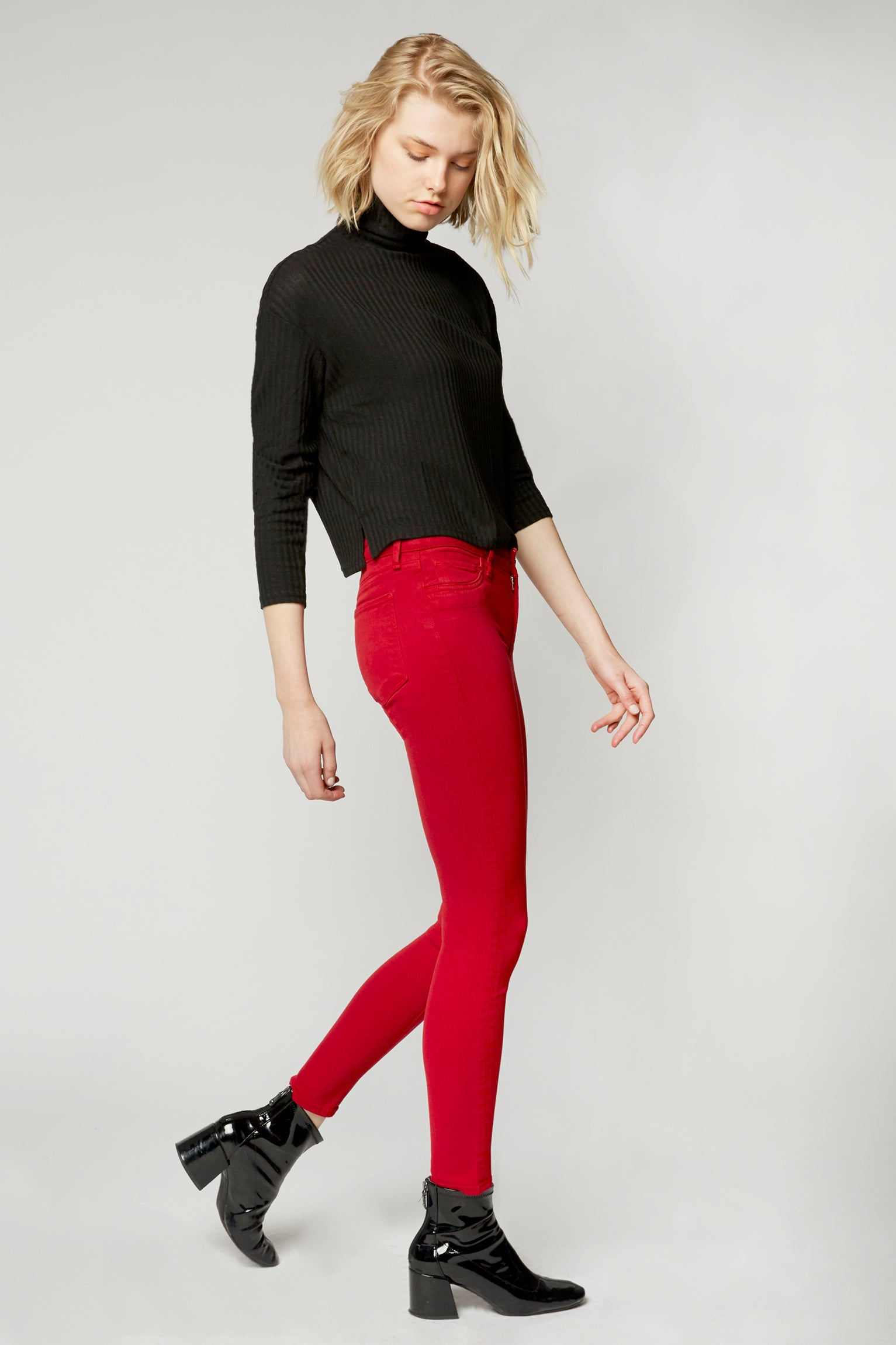 Lily Mid Rise Skinny - Rose