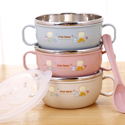 Stainless Steel cartoon feeding bowl