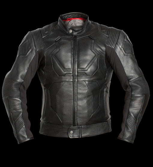 Oblivion Leather Motorcycle Jacket With Protections!