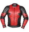 Deadpool Leather Motorcycle Jacket With Protections!