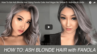 Ash Blonde: Two Different Styles