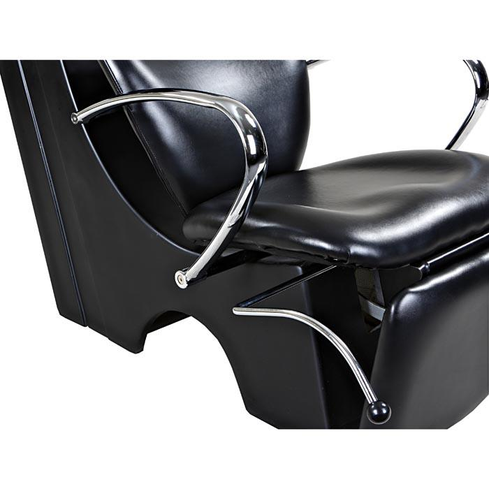 """Monroe"" Black Beauty Salon Backwash Chair & Sink Bowl Shampoo Backwash Units Icarus"