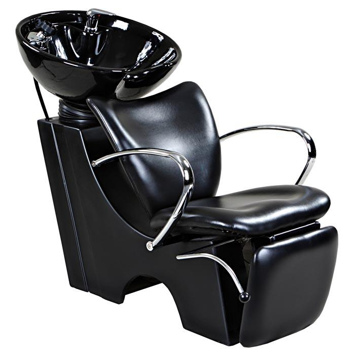 """Monroe"" Black Beauty Salon Backwash Chair & Sink Bowl Shampoo Backwash Units Icarus Default Title"