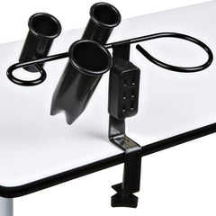 """Bristol"" Black Appliance Iron Dryer Holder W/ Outlet Appliance Holders Icarus Default Title"